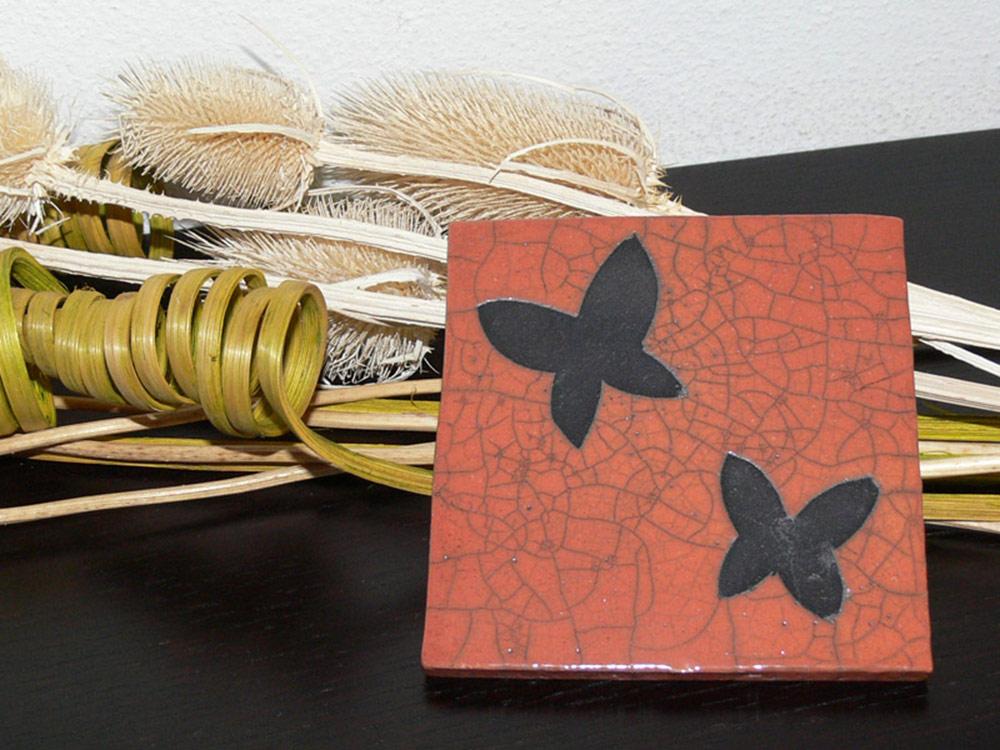 Piastrella con farfalle nonsoloraku